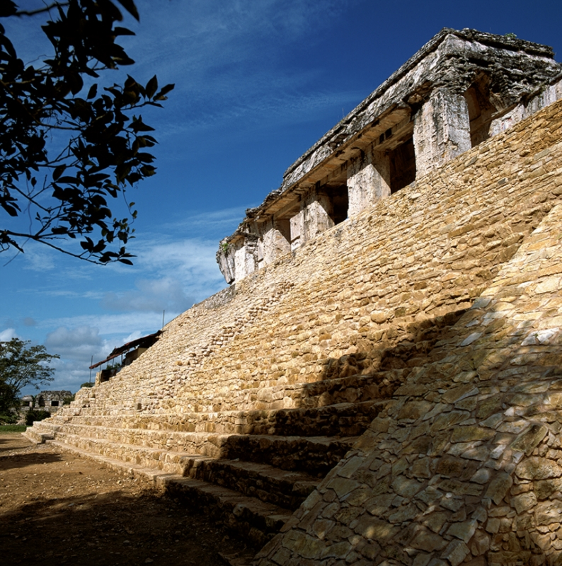 Chichen Itza Palenque Palace Stairs
