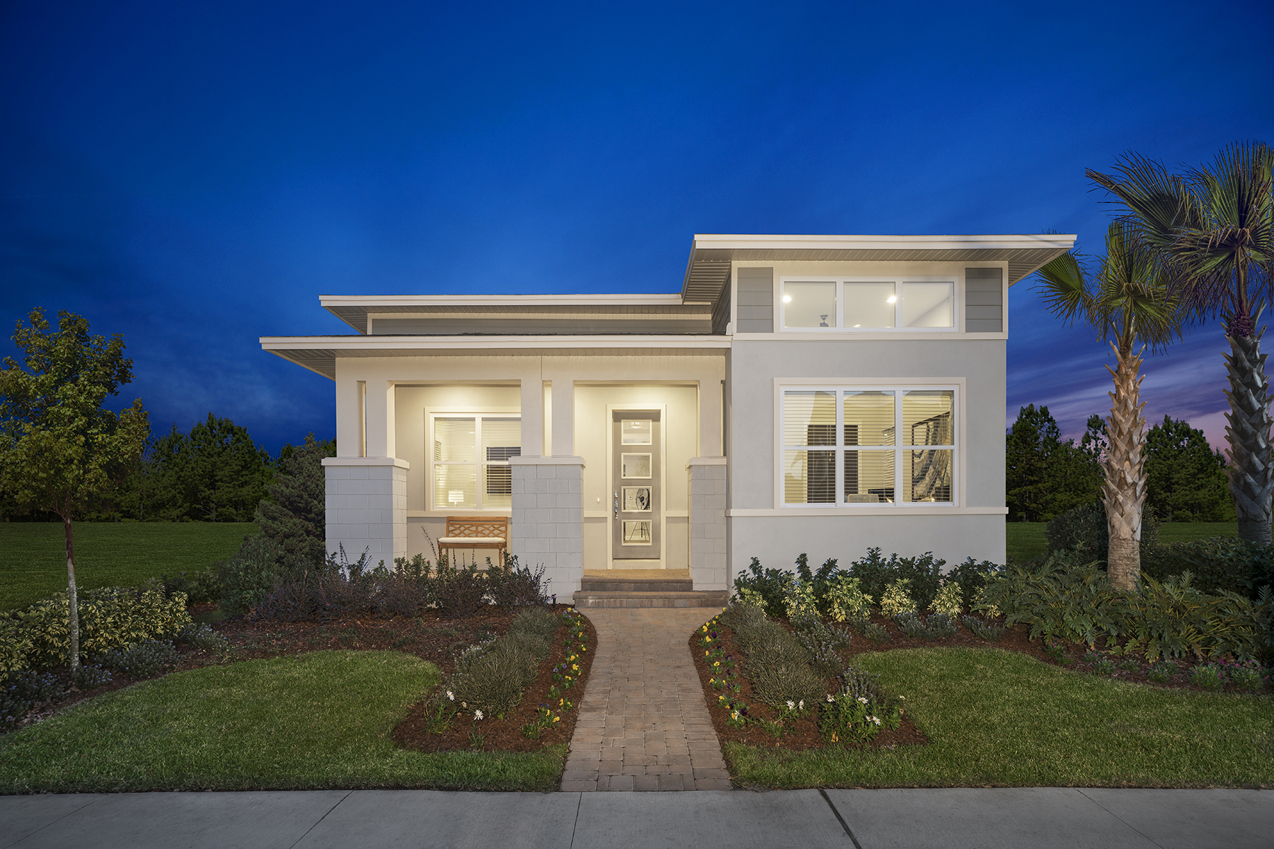 Trinity Townhouse Harper Townhouse Brigham Model Home Laureate Park In Orlando FL