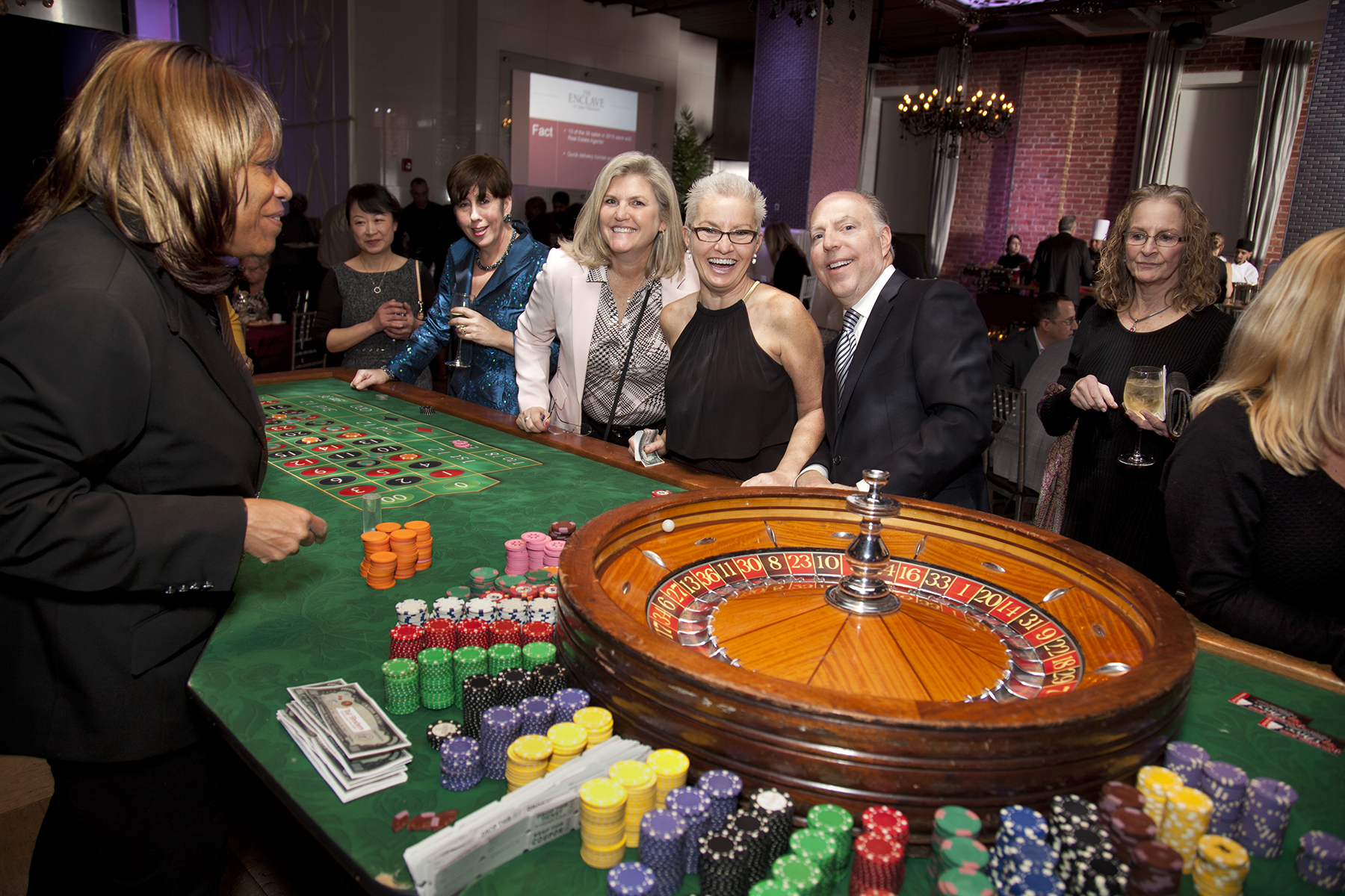 Roulette Table Event Photography Taylor Photo