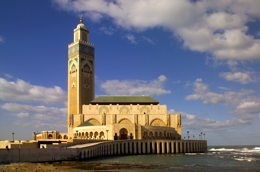 Morocco Mosque by sea