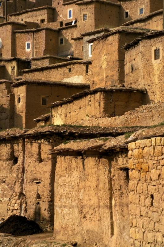 Morocco stone houses