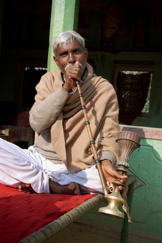 Man with HooKah Rajasthan