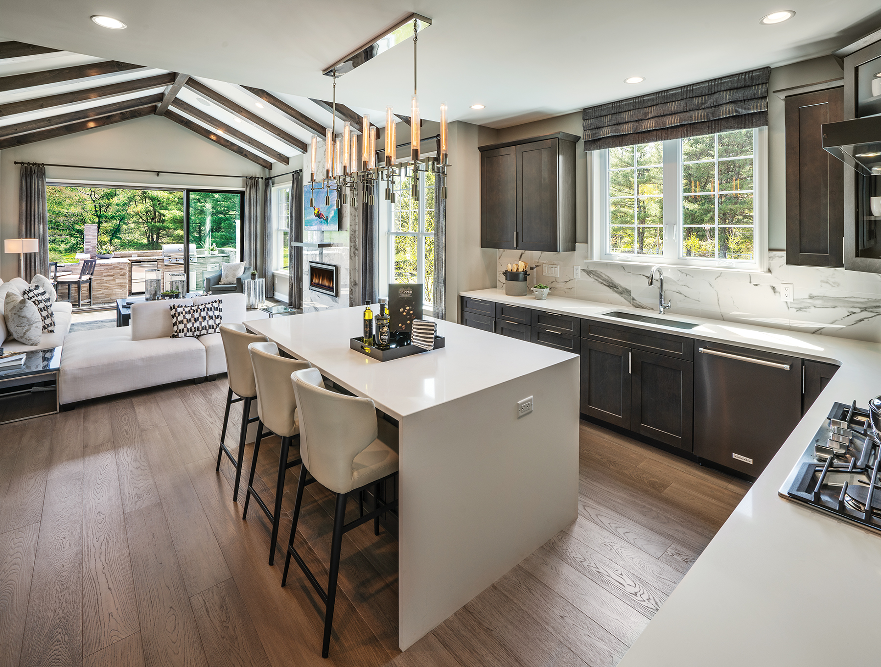 Kitchen In The Barron Model At The Regency At Glen Ellen In Millis, MA